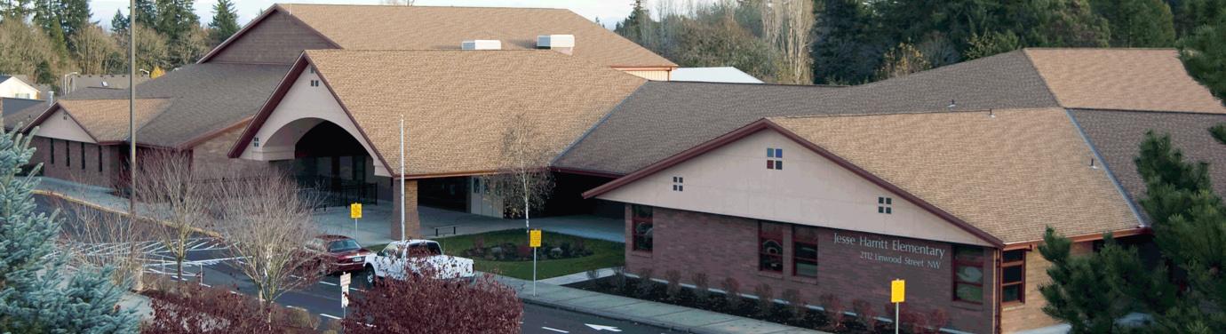 Harritt Elementary front exterior