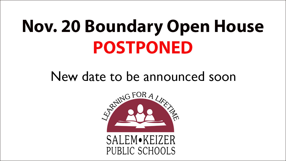 Nov. 20 Boundary Open House Event Postponed, New Date TBA